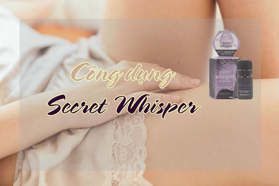 Tác dụng của nước hoa vùng kín Secret Whisper