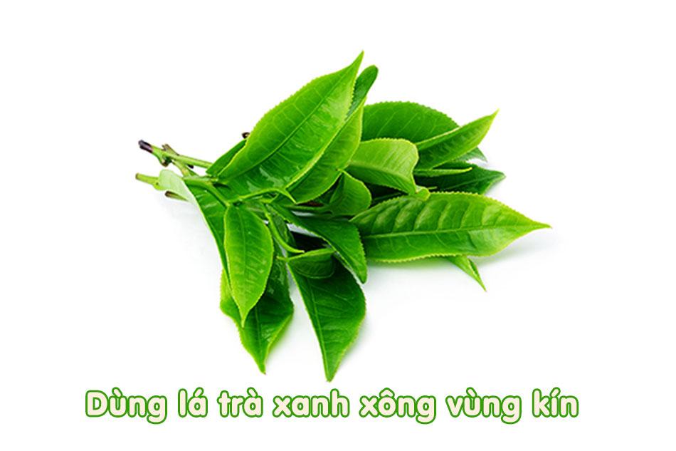 Xông vùng kín bằng lá trà xanh